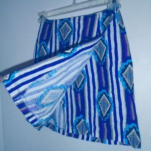 Vintage Cotton Wrap Cute Sexy Skirt